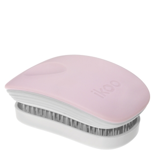 Компактная расческа ikoo pocket paradise white cotton candy «Сахарная вата»