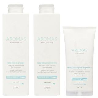 Комплект для гладкости волос Aromas Smooth (шампунь, кондиционер и крем)