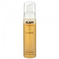 Очищающая пенка для кожи лица, шеи и декольте Klapp C Pure Foam Cleanser, 200 мл