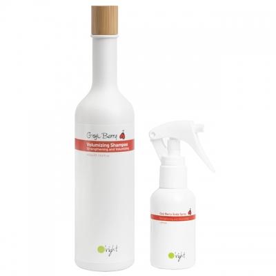 Комплект для объема и укрепления волос O'right Duo «Ягоды годжи»: шампунь и спрей