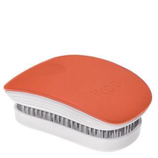 Компактная расческа-детанглер ikoo pocket paradise white orange blossom «Оранжевый цветок»