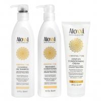 Комплект Aloxxi «Питание 7 масел»: шампунь, кондиционер и крем