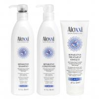 Комплект Aloxxi Trio «Восстановление»: шампунь, кондиционер и маска