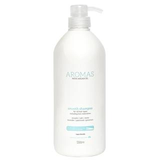 Разглаживающий шампунь с аргановым маслом Aromas Smooth Shampoo, 1000 мл