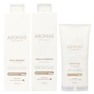 Комплект Aromas Colour «Увлажнение окрашенных волос»: шампунь, кондиционер и крем