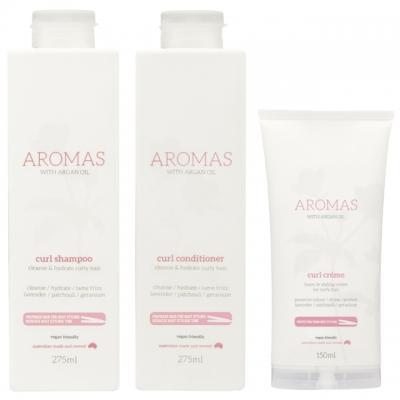 Комплект Aromas Trio «Для вьющихся волос»: шампунь, кондиционер и крем