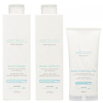 Комплект Aromas Trio «Разглаживание»: шампунь, кондиционер и крем