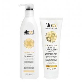 Комплект Aloxxi Duo «Питание 7 масел»: шампунь и несмываемый крем