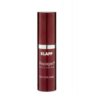 Питательный крем для век Klapp Repagen Exclusive Rich Eye Care Cream, 15 мл
