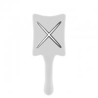 Компактная расческа для сушки феном ikoo paddle X pops «Белая платина»