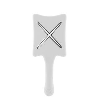 Компактная расческа для сушки феном ikoo paddle X pops platinum white «Белая платина»