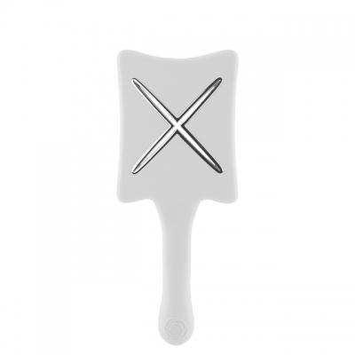 Расческа для сушки феном ikoo paddle X «Белая платина» — компактная