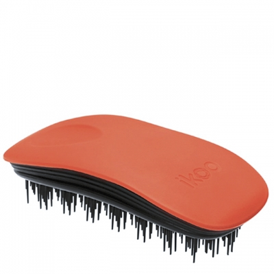 Расческа-детанглер ikoo paradise black «Оранжевый цветок» — для дома