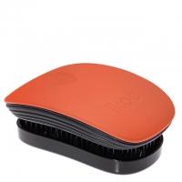 Компактная расческа-детанглер ikoo pocket paradise black «Оранжевый цветок»