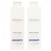 Комплект Aromas «Премиальный блонд»: шампунь и кондиционер против желтизны