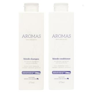 Комплект Aromas Blonde «Премиальный блонд»: шампунь и кондиционер против желтизны