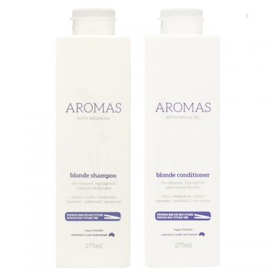 Комплект Aromas «Премиальный блонд»: шампунь и кондиционер против желтизны, 275 мл