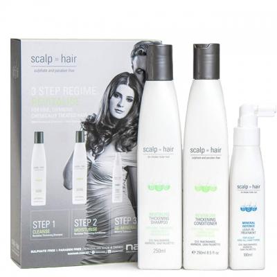 Набор против выпадения Scalp to Hair Trio для тонких окрашенных волос