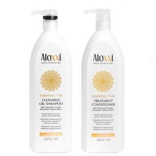 Комплект Aloxxi XXL Duo «Питание 7 масел»: шампунь и кондиционер, 1000 мл