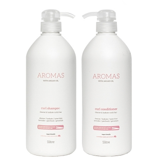 Комплект Aromas «Для вьющихся волос XXL»: шампунь и кондиционер, 1000 мл