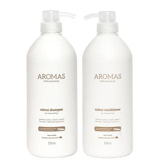 Комплект Aromas Duo Colour «Увлажнение окрашенных волос XXL»: шампунь и кондиционер, 1000 мл