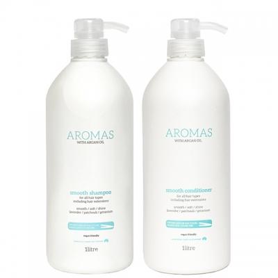 Комплект Aromas Duo «Разглаживание XXL»: шампунь и кондиционер, 1000 мл