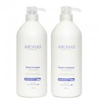 Комплект Aromas «Премиальный блонд XXL»: шампунь и кондиционер, 1000 мл