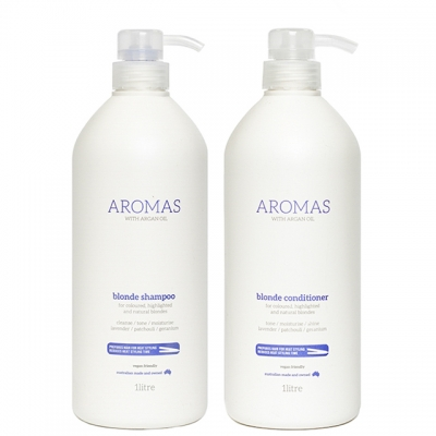 Комплект Aromas Duo «Премиальный блонд XXL»: шампунь и кондиционер, 1000 мл