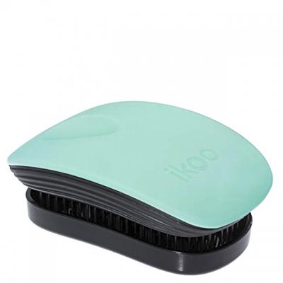 Расческа-детанглер ikoo paradise black «Бриз на Бали» — компактная для сумочки