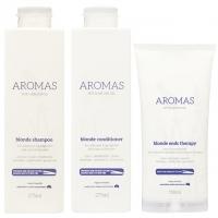 Комплект Aromas «Премиальный блонд»: шампунь, кондиционер и крем