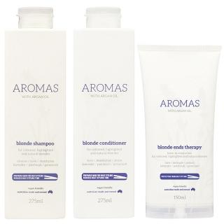 Комплект Aromas Blonde  «Премиальный блонд»: шампунь, кондиционер и крем