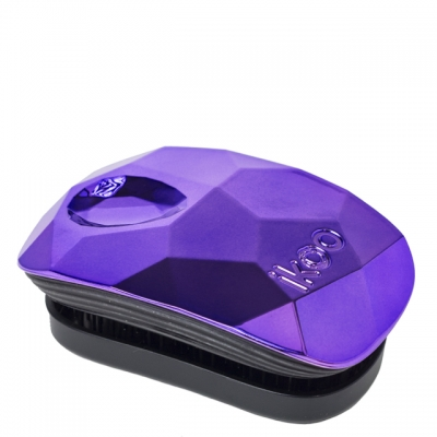 Компактная расческа-детанглер ikoo pocket glamour trophy wife purple «Пурпурная»