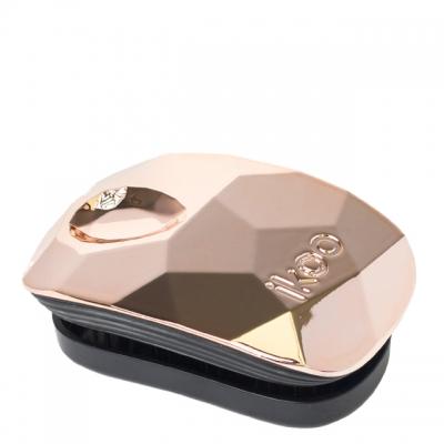 Расческа-детанглер ikoo glamour «Розовое золото» — компактная для сумочки
