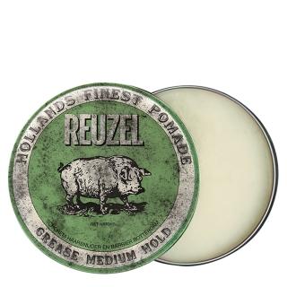 Зеленая помада для укладки средней фиксации Reuzel Grease Medium Hold, 113 г