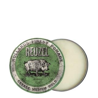Зеленая помада для укладки средней фиксации Reuzel Grease Medium Hold, 35 г