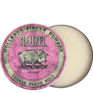 Розовая помада для укладки сильной фиксации Reuzel Grease Heavy Hold, 340 г