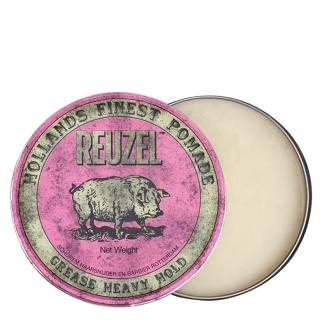 Розовая помада для укладки сильной фиксации Reuzel Grease Heavy Hold, 113 г