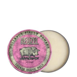 Розовая помада для укладки сильной фиксации Reuzel Grease Heavy Hold, 35 г