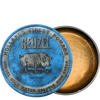 Голубая помада для укладки сильной фиксации Reuzel Strong Hold Water Soluble, 340 г