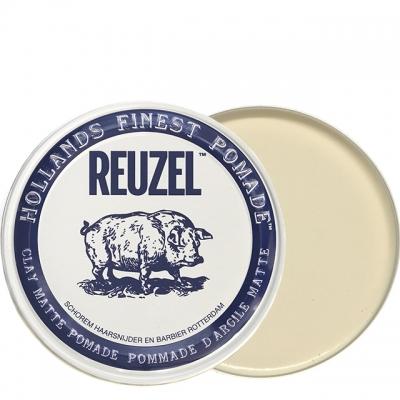 Белая матовая глина-помада Reuzel сильной фиксации, 340 г