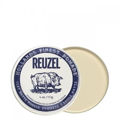 Белая матовая глина-помада Reuzel сильной фиксации, 35 г
