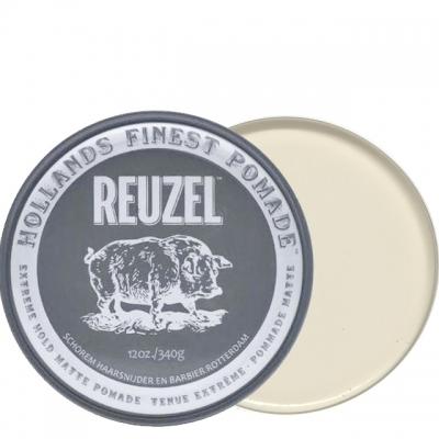 Серая матовая помада Reuzel экстрасильной фиксации, 340 г