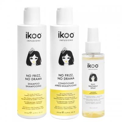 Комплект ikoo Trio «Против пушистости»: шампунь, кондиционер и спрей