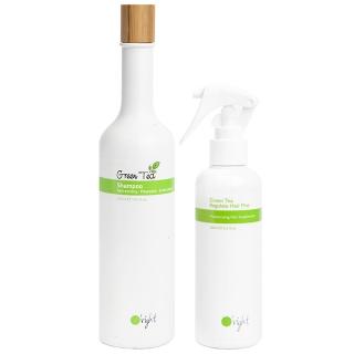 Комплект для увлажнения O'right Green Tea Duo «Зеленый чай»: шампунь и спрей