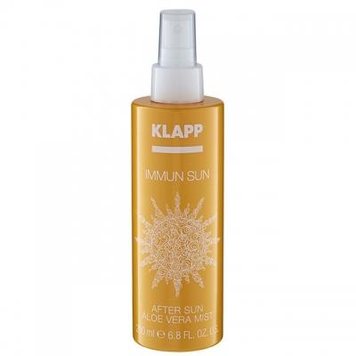 Успокаивающий спрей после загара Klapp Immun Sun After Sun Aloe Vera Mist, 200 мл