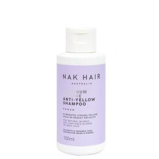 Шампунь «Платиновый блонд» против желтизны волос NAK Platinum Blonde Anti-Yellow Shampoo, 100 мл