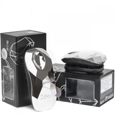Комплект ikoo duo: две расчески «Серебряные» для дома и сумочки