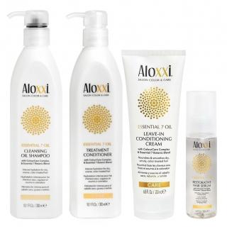 Комплект Aloxxi «Питание 7 масел»: шампунь, кондиционер, крем и сыворотка