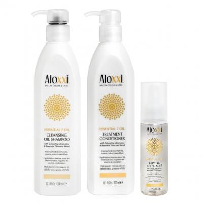 Комплект Aloxxi Trio «Питание 7 масел»: шампунь, кондиционер и сухое масло