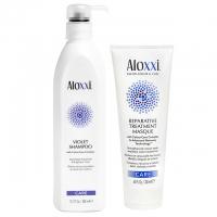 Комплект Aloxxi Duo «Восстановление и против желтизны»: шампунь и маска